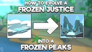 HOW TO EVOLVE A FROZEN JUSTICE INTO A FROZEN PEAK! | NEW UPDATE! | Miner's Haven #30
