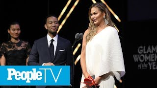 Glamour 'Woman of The Year' Chrissy Teigen Gets Emotional On Stage & Thanks John Legend | PeopleTV