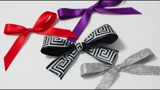 How To Make A Bow With Ribbon