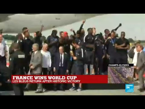 French players land in Paris after world cup victory