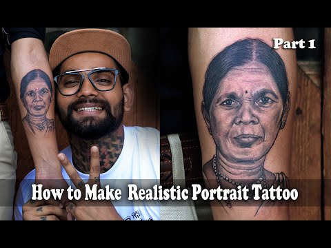 tattoo of a realistic face on hand by mahesh chavan