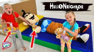 Pregnant Hello Neighbor in Real Life Hide and Seak! Cozy Dozy Toy Scavenger Hunt!