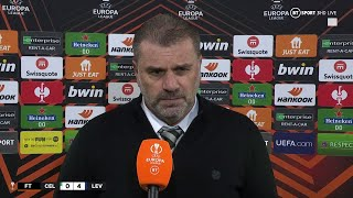 Ange Postecoglou Reacts To Celtic 0-4 Leverkusen | Bhoys Lose For Fourth Time In Last Seven Games