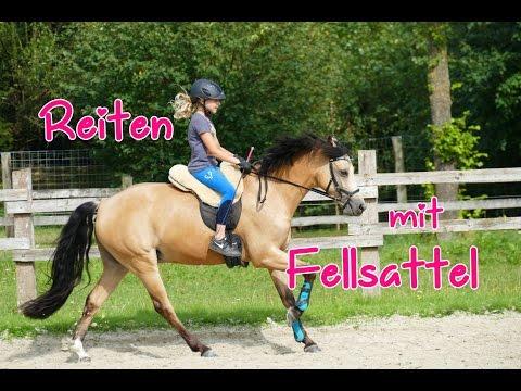 Lia & Alfi - FMA Stallalltag und Reiten mit Fellsattel