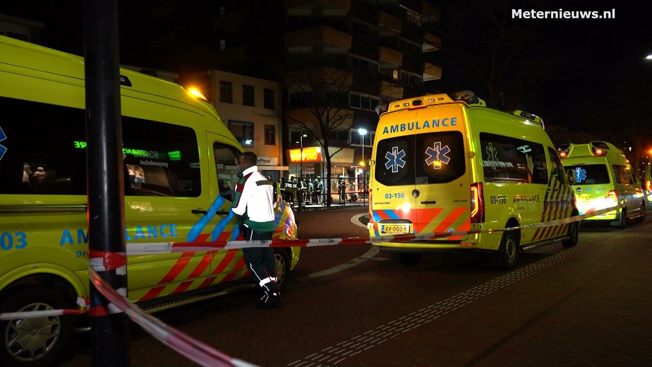 Grote brand en ontruimingen in flat centrum Drentse Hoogeveen