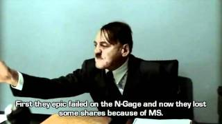 Hitler is informed about Nokia's new strategic alliance.