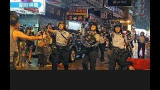 《石濤聚焦》「今晚港警開了第一槍 老人跪求被踢開 香港荃灣」兩名英警司再出頭 水砲車出動 警察全覆蓋新面具 港鐵配合包抄封堵式清場 暴警被動物附體般失控狂躁