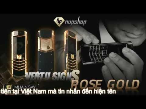 Điện thoại ban sao Vertu Sign S Rose Gold Nup Shop