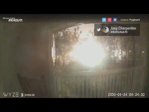 Watch: Doorbell camera captures explosion in NW Houston
