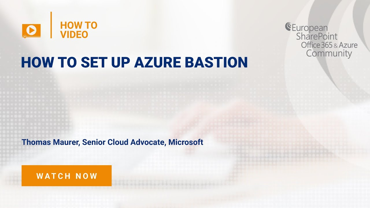 How to Set Up Azure Bastion