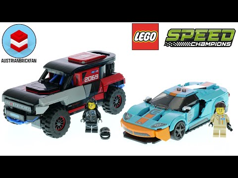 Vidéo LEGO Speed Champions 76905 : Ford GT Heritage Edition et Bronco R