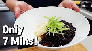 7 Minute Jjajangmyeon Black Bean Noodles Recipe