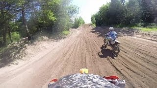 preview picture of video 'KTM 350SX two laps @ Hoope Park 2014'