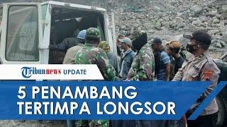 Detik-detik 5 Penambang Tertimbun Longsoran Tebing di Lereng Gunung Merapi, 3 Orang Ditemukan Tewas