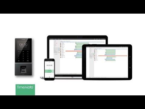 Safescan TimeMoto TM-616 RFID-Zeiterfassungssystem für bis zu 200 Benutzer - Komplettlösung inkl. Software und 5 Transponder