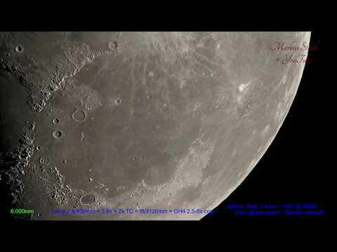World's sharpest Tele lens! Moon, 300x zooming in! 4K, UHD, Leica 2.8400 mm