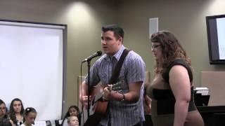 "Aaron singing Josh Turner ""Pallbearer""."