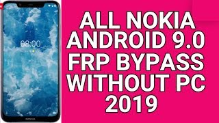 Nokia 3 FRP BYPASS without any tools 2019 || March security