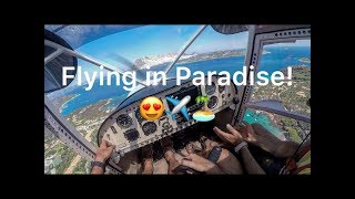 How to fly in Sardinia on a small Savannah Ultralight Airplane!