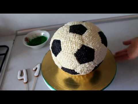 Идея торта в виде футбольного мяча. Пошаговая инструкция
