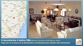 preview picture of video '6 dormitorios 4 baños Villa se Vende en Monovar, Alicante (Costa Blanca), Spain'
