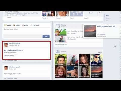 How to Post Facebook Notes to Wall