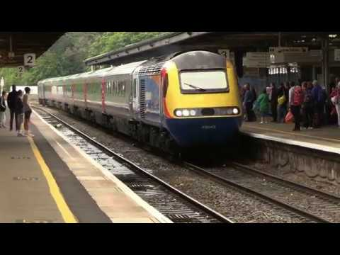 East Midlands Trains 43043 leads Cross Country set XC02 & 43…