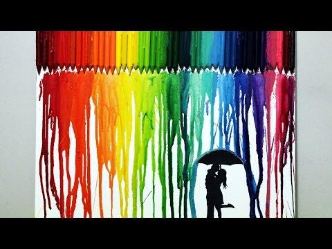 CRAYON ART | Crea tu propio cuadro Multicolor (Muy fácil) | DIY | ArteMaster