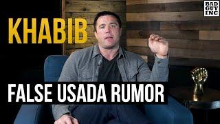 Khabib Nurmagomedov failed USADA drug test rumor...