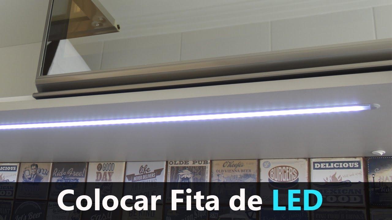 Colocar Fita de LED Embutido com Barra de Perfil Hardt