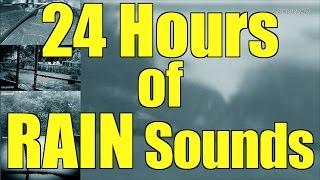 "Heavy Pouring Rain and Thunder | 24 Hours | ""Rain"" ""Rain Sounds"" ""Sleep Sounds"""