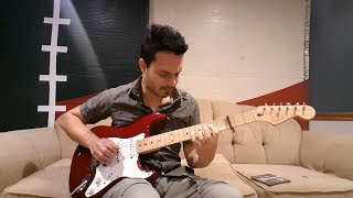 Dany Franchi uses his Fender Jimmie Vaughan Strat