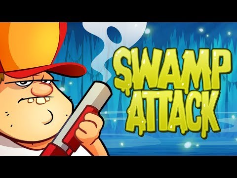 Swamp Attack защищаю домик от крокодилов черепах енотов камаров