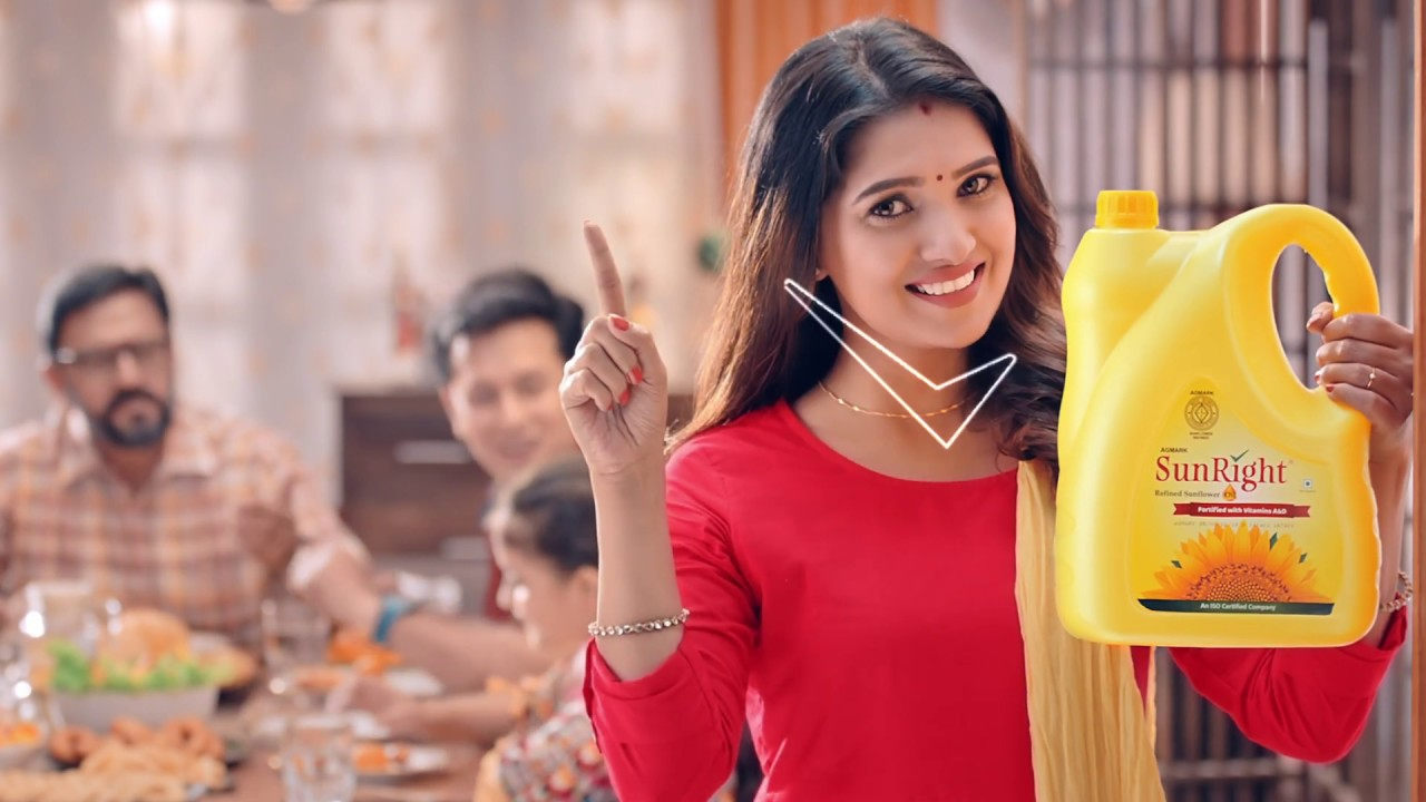 SunRight Refined Sunflower Oil Tamil ad by Vani Bhojan