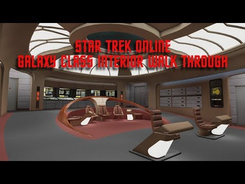 Galaxy Interior & Discovery Uniform | Star Trek Online | Walk Through | MTW