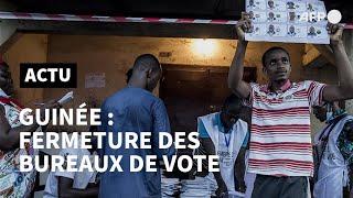 Présidentielle en Guinée : fermeture des bureaux de vote | AFP Images