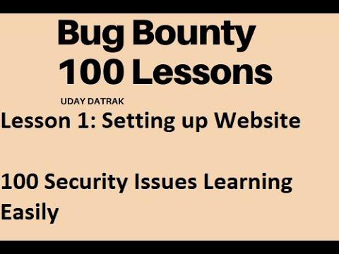Lesson 1: Bug Bounty Training - Highest Payable Job | Security ...