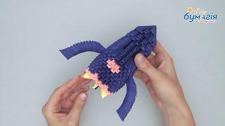"""Набор для творчества ЗD оригами """"Ракета"""" 515 модулей от компании Интернет-магазин """"Радуга"""" - школьные рюкзаки, канцтовары, творчество - видео"""