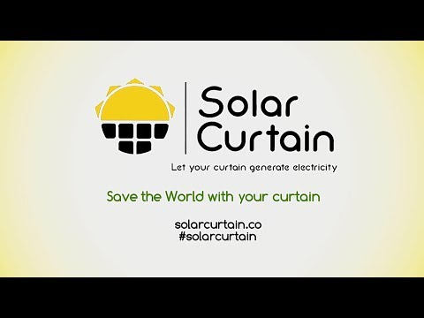 Solar Curtain - World's First Solar Panel In Real Curtain Shape