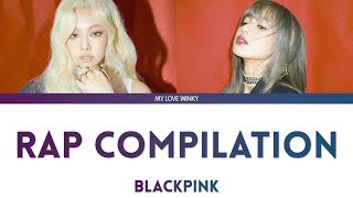 BLACKPINK JENNIE & LISA RAP COMPILATION (2016 2019) Color Coded Lyrics (EngRomHan)