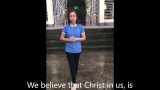 Christ in us, our hope of glory by Julie Anne San Jose