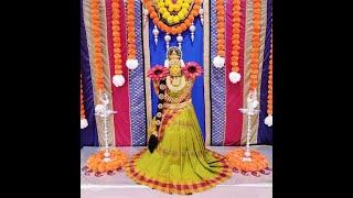 Quick And Easy Varamahalakshmi Saree Draping & Decoration / How To Drape Saree For Varalakshmi Pooja