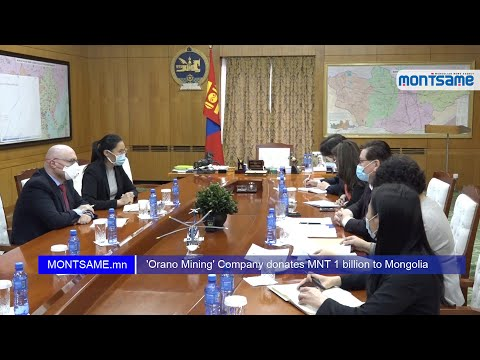 'Orano Mining' Company donates MNT 1 billion to Mongolia