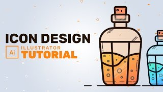 Flask Icon Design - Adobe Illustrator Tutorial