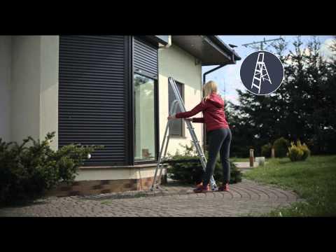 Sicherheitsleiter Profistep 2 - 6 Stufen Haushaltsleiter Leiter Malerleiter