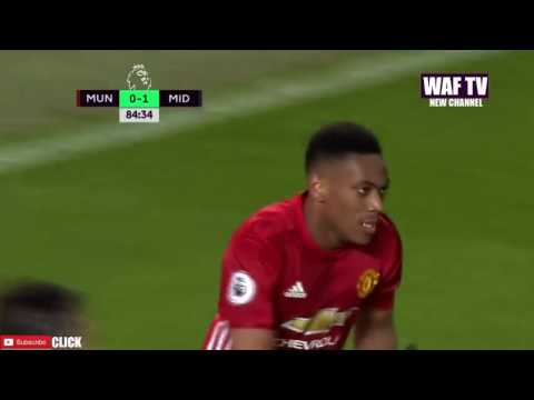 Anthony Martial Goal - Manchester United Vs Middlesbrough (1-1)