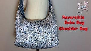 #DIY Reversible Boho Bag | Shoulder Bag | Crossbody Bag |Tutorial