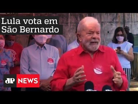 Download Ex-presidente Lula fez críticas a Bolsonaro após votação em São Bernardo HD Mp4 3GP Video and MP3