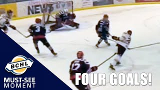 Must See Moment: Ellis Rickwood has a four goal BCHL debut