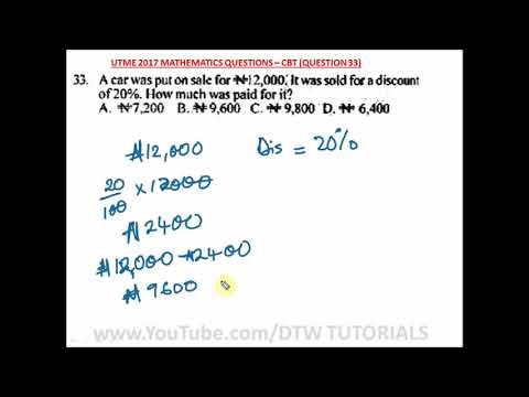 How to Calculate Sales Price After Discount (JAMB Solved Example)
